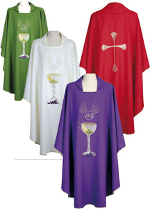 Chalice Chasuble With Round Neck