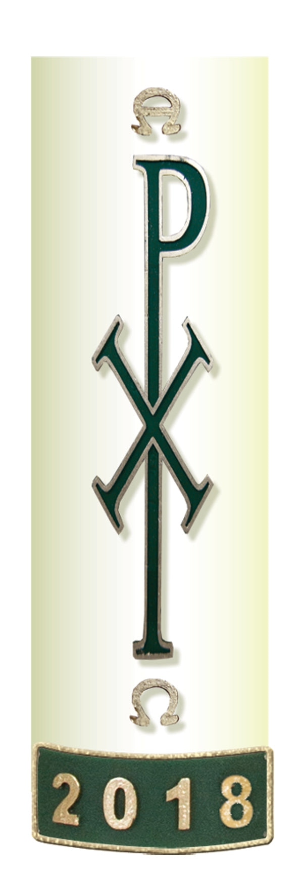 Green Chi-Rho Wax ReliefGreen Chi-Rho Wax Relief