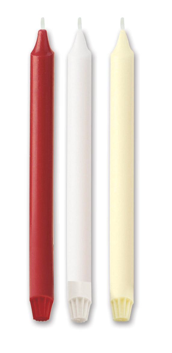"Fluted Base Candles - Red 12"" X 1""Fluted Base Candles - Red 12"" X 1"""