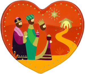 Three Kings Heart Christmas DecorationThree Kings Heart Christmas Decoration