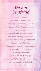 Prayer Cards-Do Not Be AfraidPrayer Cards-Do Not Be Afraid