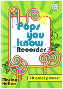 Pops You Know For Recorder - Book & CdPops You Know For Recorder - Book & Cd