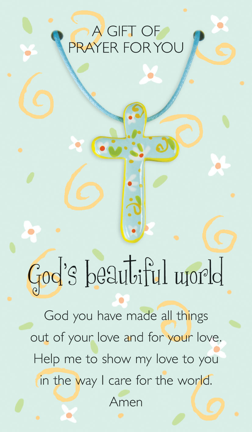 God's Beautiful World Prayer Card & PendantGod's Beautiful World Prayer Card & Pendant