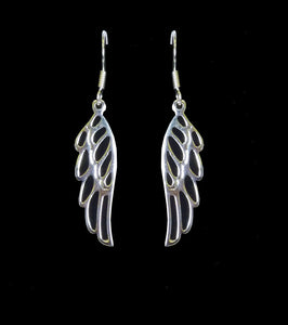 Silver Angel Wing Drop  EarringsSilver Angel Wing Drop  Earrings
