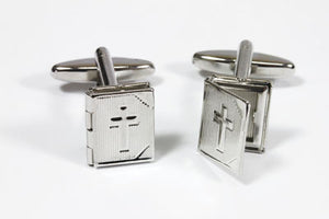 Opening Holy Bible Cufflinks In Box (X2Aj034) (13 X 11 Mm)Opening Holy Bible Cufflinks In Box (X2Aj034) (13 X 11 Mm)