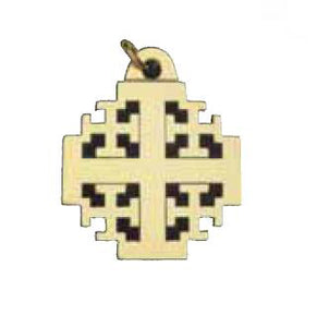 Jerusalem Cross Key TagJerusalem Cross Key Tag