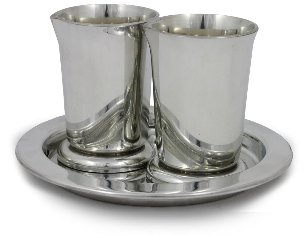 Pewter Cruets And Paten SetPewter Cruets And Paten Set