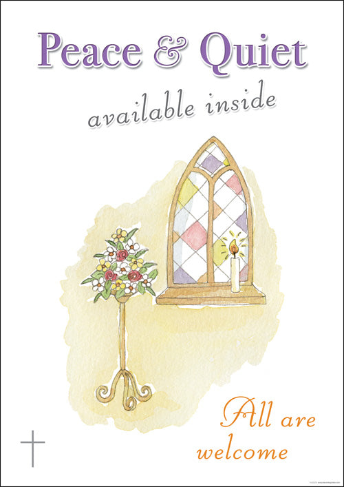 Clipboard Poster - Peace & Quiet - Church WindowClipboard Poster - Peace & Quiet - Church Window