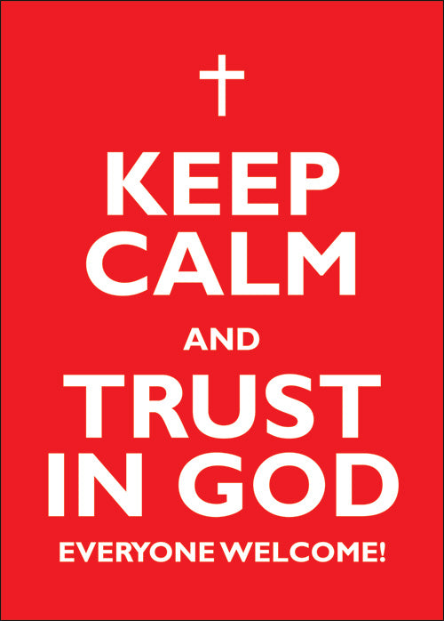 Clipboard Poster - Keep Calm & Trust In GodClipboard Poster - Keep Calm & Trust In God