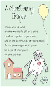 Prayer Card-A Christening PrayerPrayer Card-A Christening Prayer