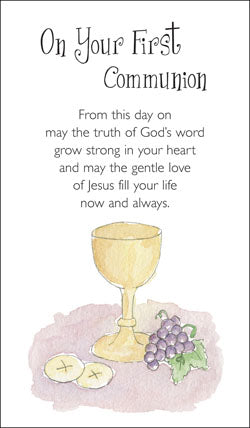 Prayer Card - On Your First CommunionPrayer Card - On Your First Communion