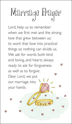Prayer Card - Marriage PrayerPrayer Card - Marriage Prayer