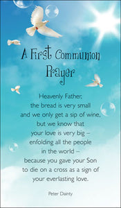 Prayer Card -  First Communion PrayerPrayer Card -  First Communion Prayer