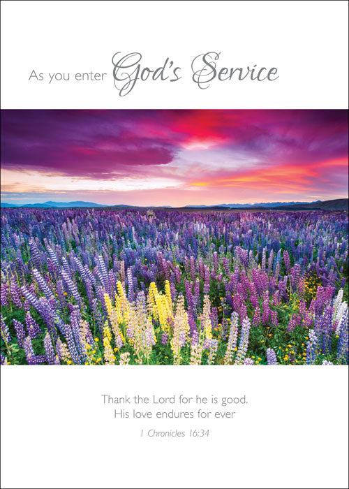As You Enter God's ServiceAs You Enter God's Service