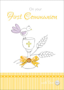 On Your First Communion - Std Card GlossOn Your First Communion - Std Card Gloss