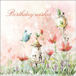 Birthday Wishes (F) - Square Card TexturedBirthday Wishes (F) - Square Card Textured