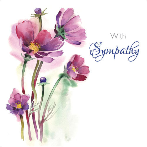 With Sympathy - Square Card GlossWith Sympathy - Square Card Gloss