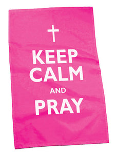 Keep Calm And Pray Tea TowelKeep Calm And Pray Tea Towel