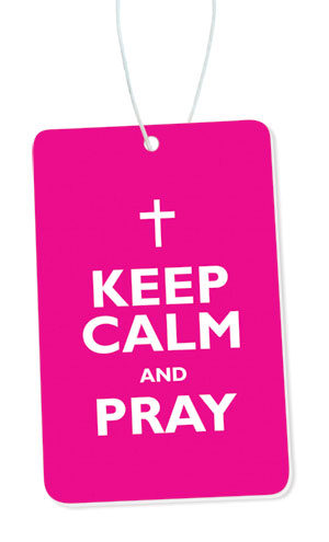 Keep Calm And Pray Airfreshener (New Car Fragrance)Keep Calm And Pray Airfreshener (New Car Fragrance)