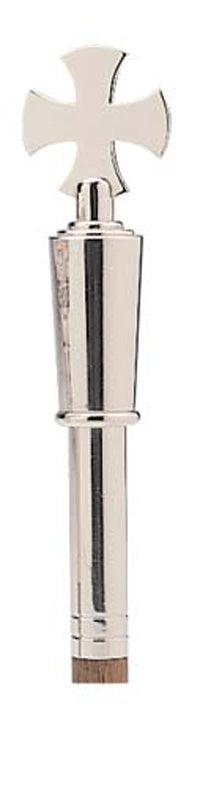 Verger'S Wand - Cross On Tapered Stem (Silver Plated)Verger'S Wand - Cross On Tapered Stem (Silver Plated)