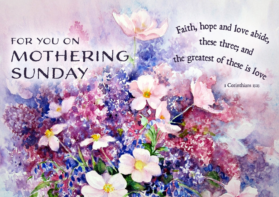 Mothering Sunday - Purple Flowers Postcard - 20 PkMothering Sunday - Purple Flowers Postcard - 20 Pk