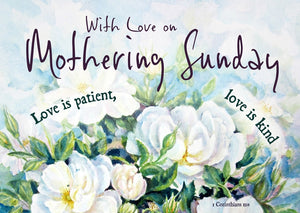 Mothering Sunday - Love Is Patient Postcard - 20 PkMothering Sunday - Love Is Patient Postcard - 20 Pk