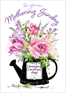 Mothering Sunday - Watering Can Postcard - 20 PkMothering Sunday - Watering Can Postcard - 20 Pk