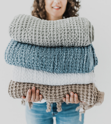 Holiday Gift Guide - Waffle Blanket