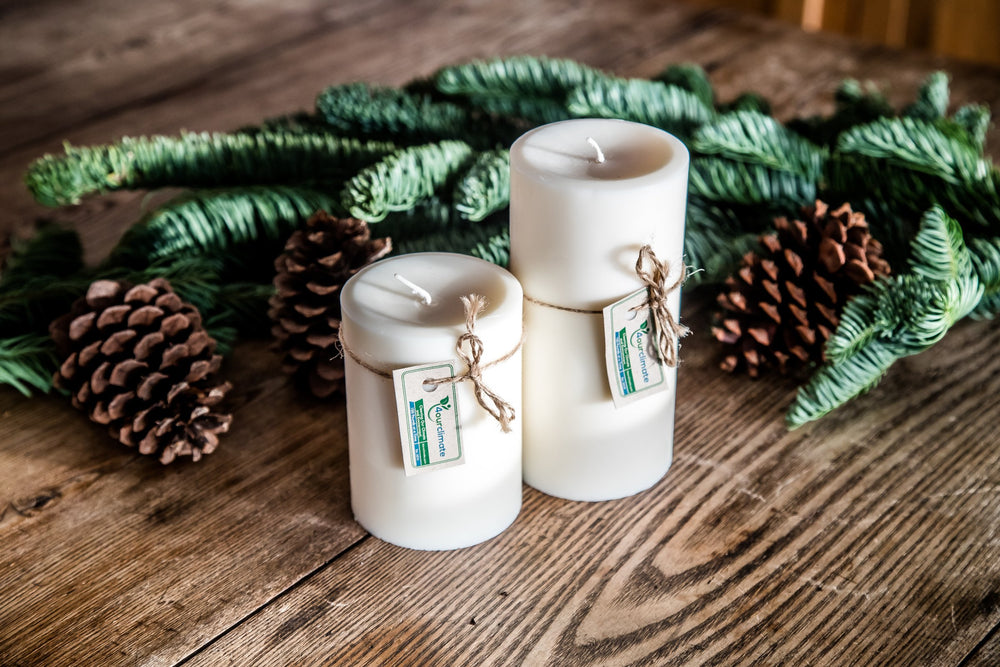 Load image into Gallery viewer, 3x6 Unscented Pillar Soy Candle - 120+ hours of Clean Burning