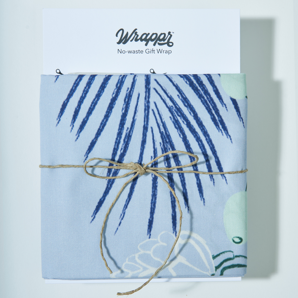 No-waste Gift Wrap - Frost - 75 cm. square