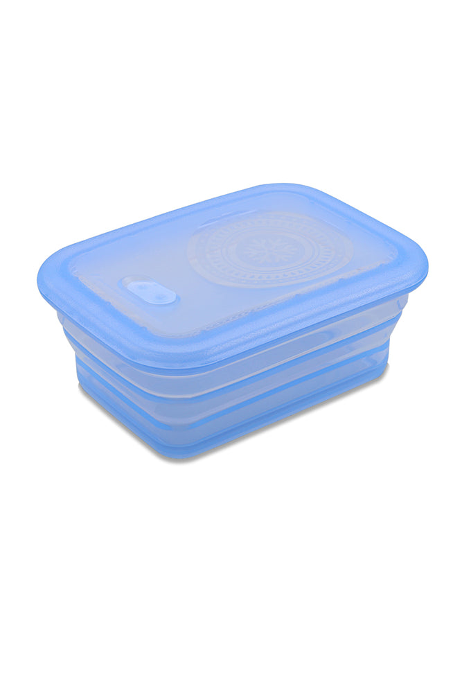 Minimal Silicone Storage Container Collapsible, 660ml, Blue