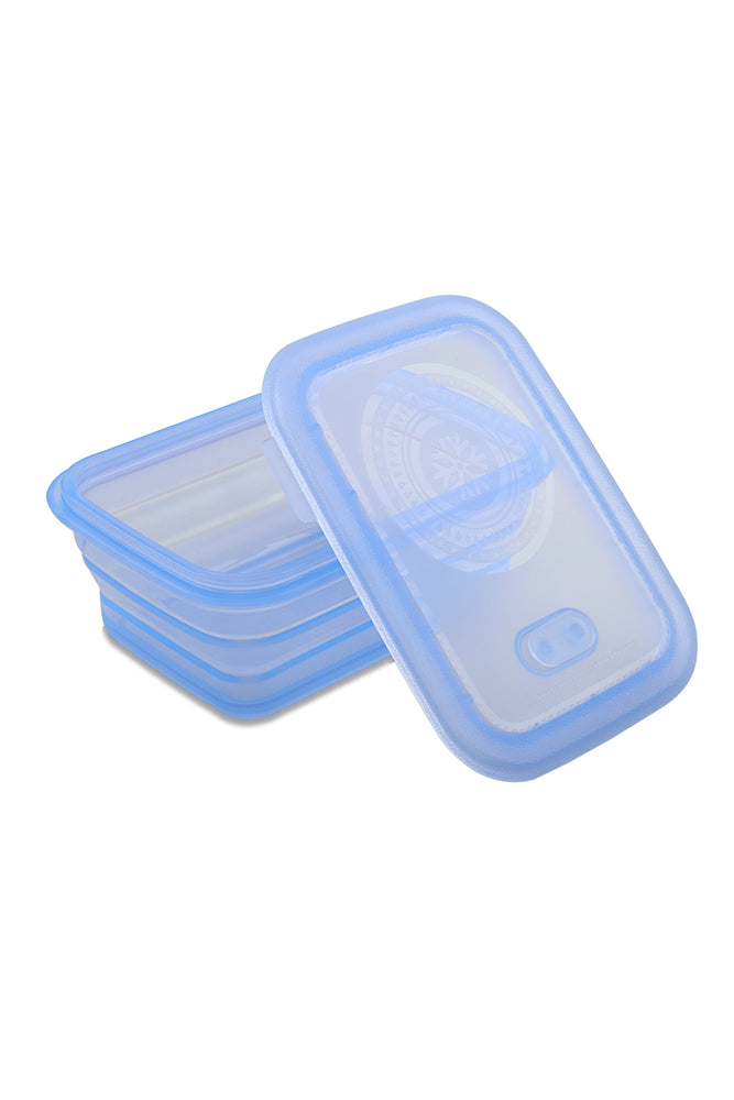 Load image into Gallery viewer, Minimal Silicone Storage Container Collapsible, 1160ml, Blue