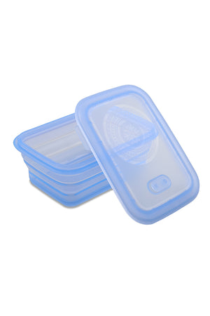 Load image into Gallery viewer, Minimal Silicone Storage Container Collapsible, 660ml, Blue