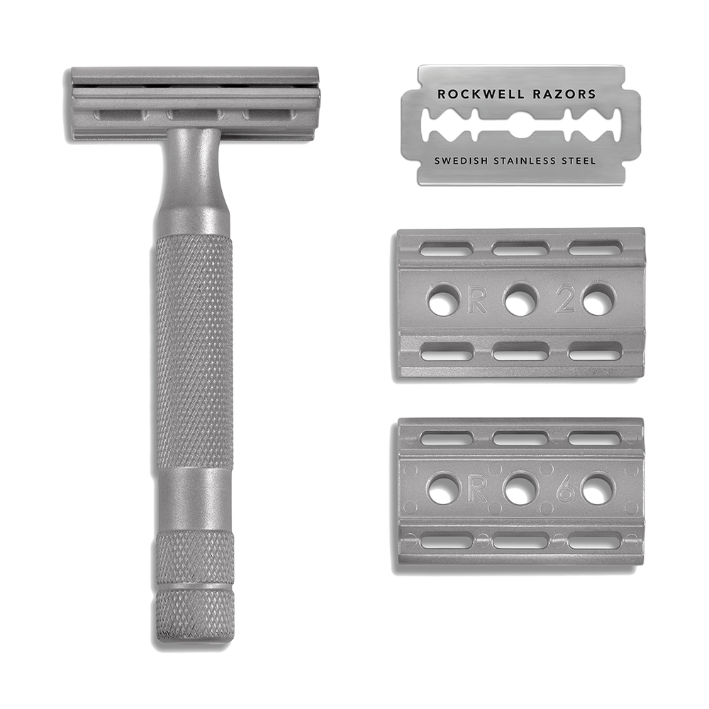 Double Edge Adjustable Safety Razor - 6S - Stainless Steel