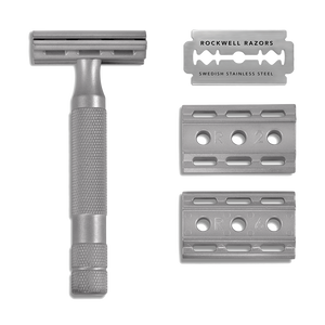 Load image into Gallery viewer, Double Edge Adjustable Safety Razor - 6S - Stainless Steel