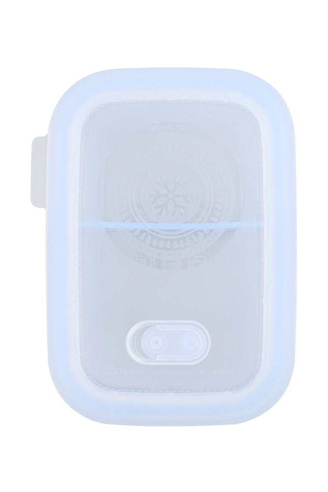 Load image into Gallery viewer, Minimal Silicone Storage Container with Divider, 900ml, Clear
