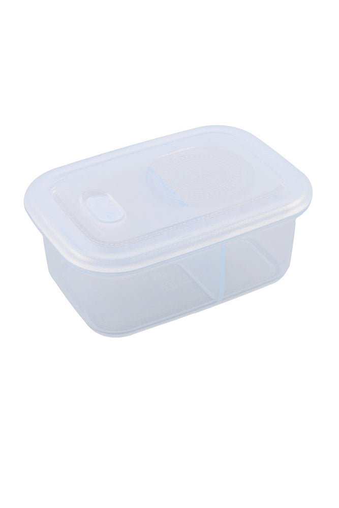 Minimal Silicone Storage Container with Divider, 900ml, Clear
