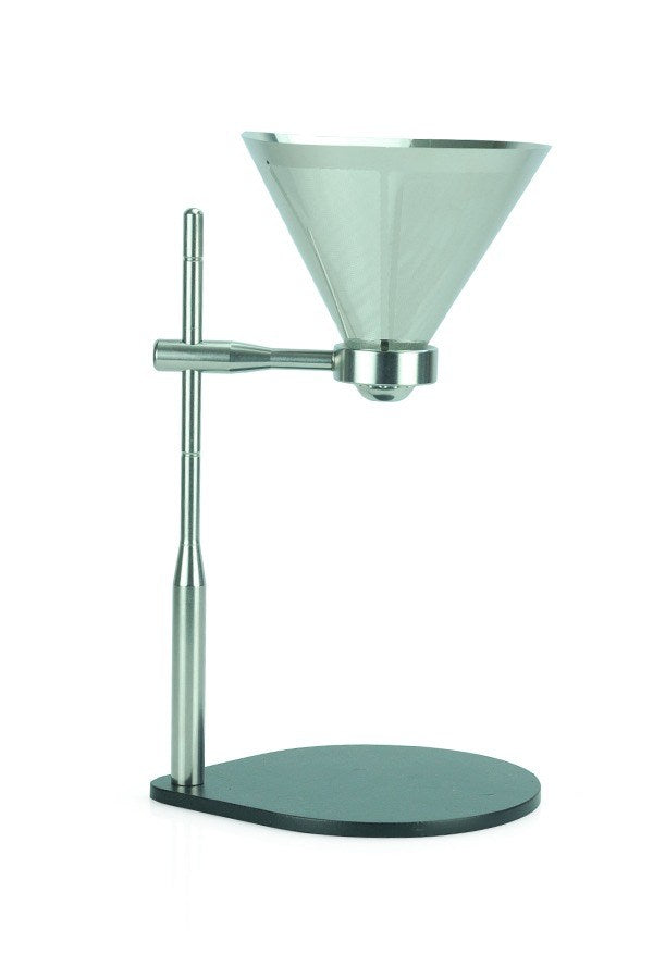 Minimal Pour-Over Coffee Stand with Stainless Steel Filter