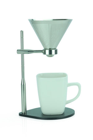 Load image into Gallery viewer, Minimal Pour-Over Coffee Stand with Stainless Steel Filter