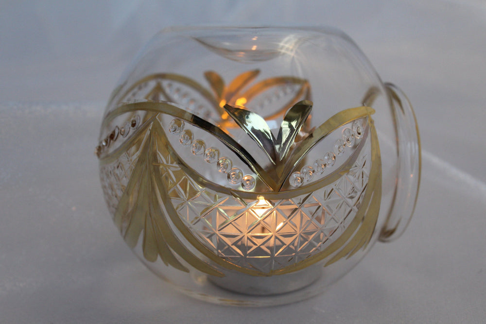 Load image into Gallery viewer, Blown Glass Oil Diffuser - Gold Garland