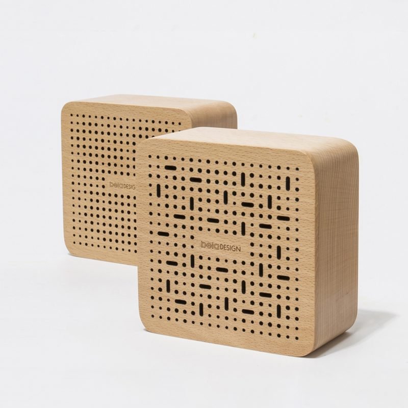 Square Wooden Bluetooth Speaker
