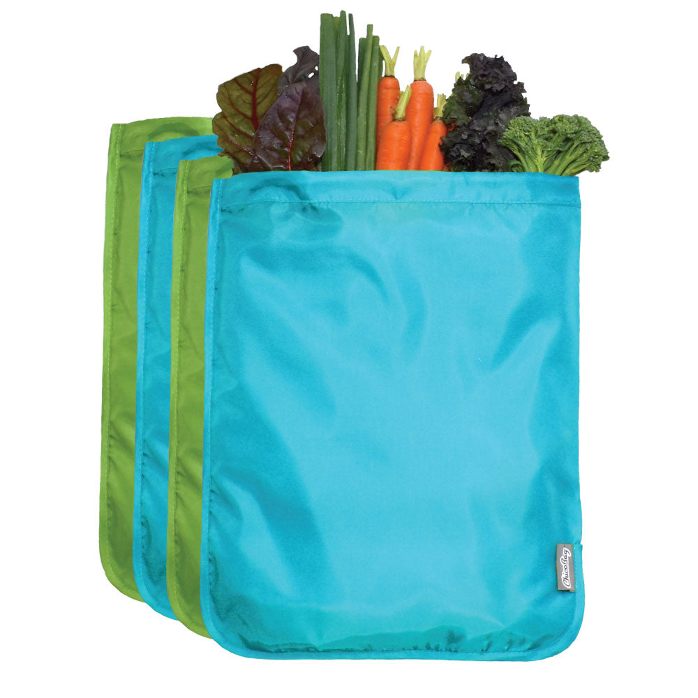 ChicoBag Moisture Locking Reusable Produce Bags (Set of 4: 2 Blue, 2 Green)