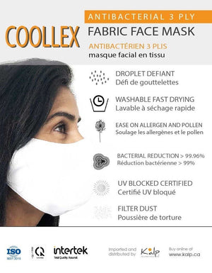 Load image into Gallery viewer, Coollex Antibacterial 3 ply Fabric Face Mask - Washable