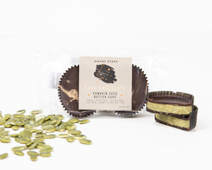 Load image into Gallery viewer, Dark Chocolate Pumpkin Seed Butter Cups (42 g)