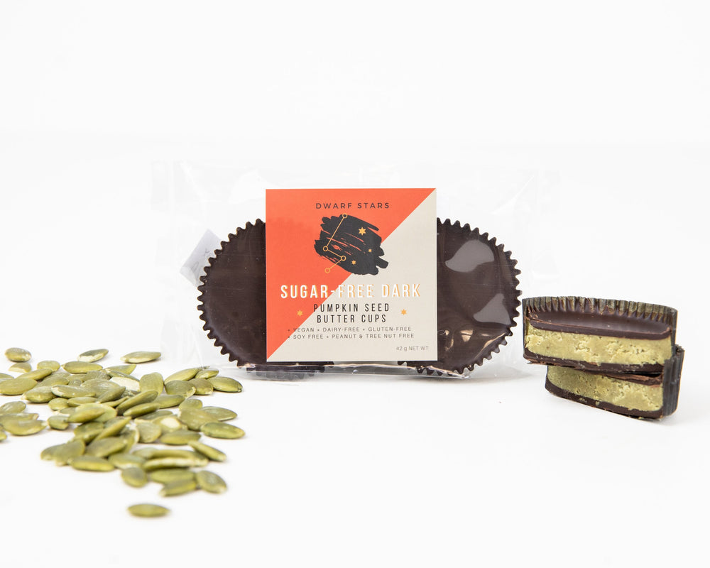 Load image into Gallery viewer, Sugar-Free Dark Chocolate Pumpkin Seed Butter Cups (42 g)