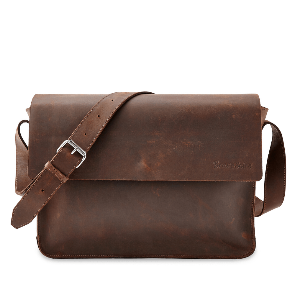 Load image into Gallery viewer, The Gabriel Leather Messenger Bag