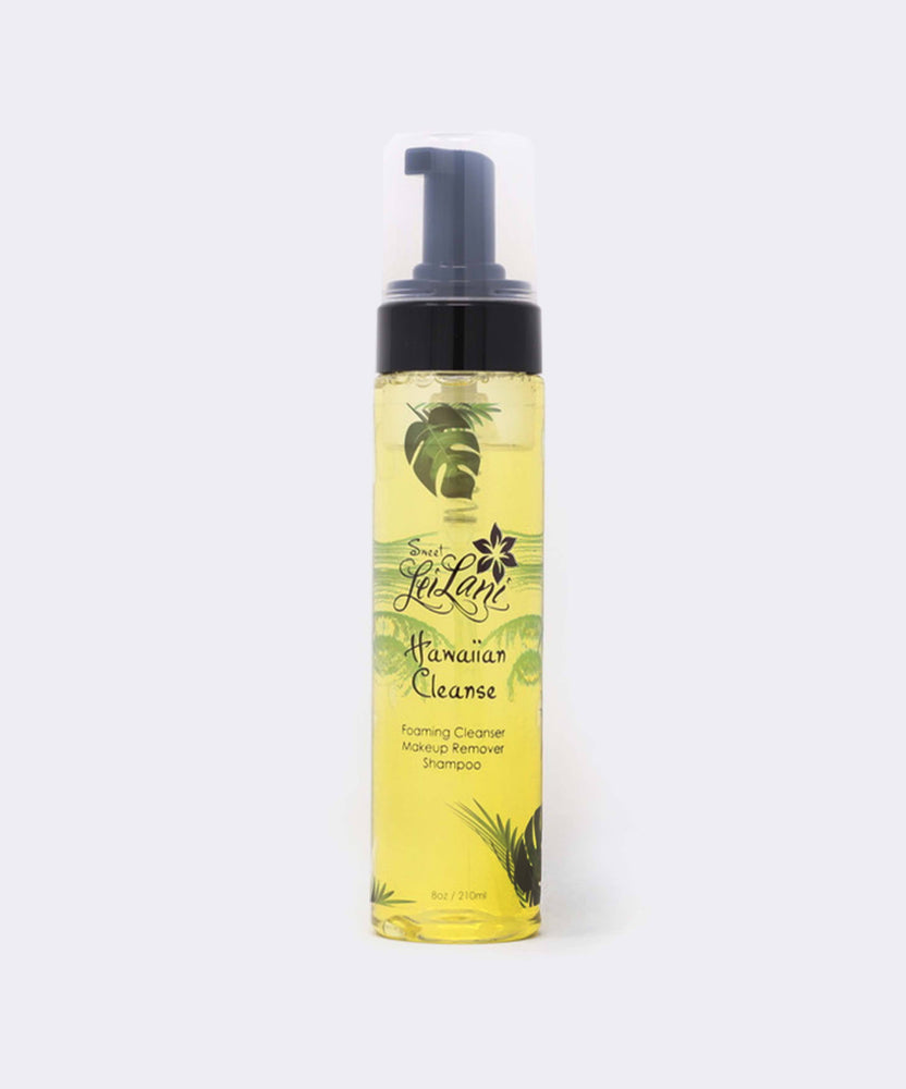 Hawaiian Foaming Facial, Body Wash, Makeup Remover, Shampoo and Brush Cleaner