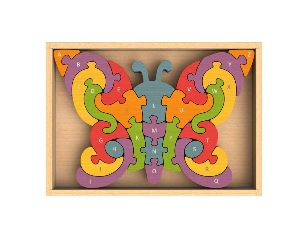 Load image into Gallery viewer, Butterfly A-Z Puzzle