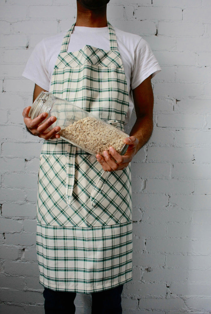 Chef Apron - Green Plaid