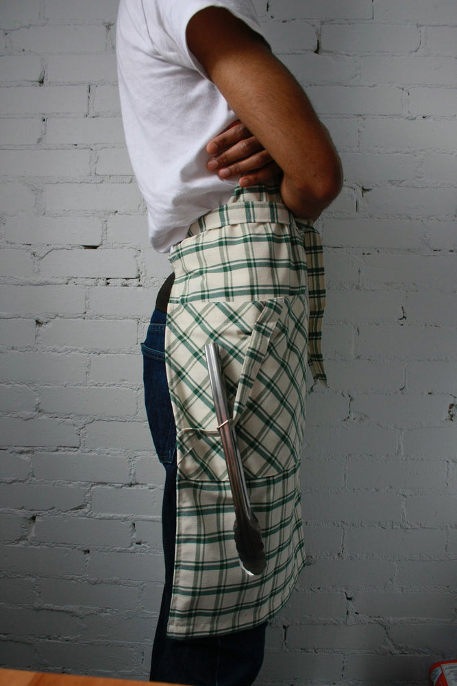 Load image into Gallery viewer, Chef Apron - Green Plaid